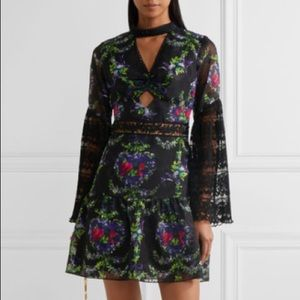 NWT Anna Sui Bird Garland Mini Dress, 4